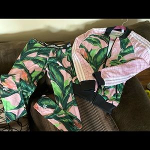 Adidas pink and Green matching items
